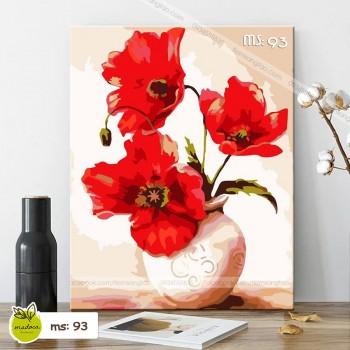 Tranh tô màu Hoa anh túc đỏ T93