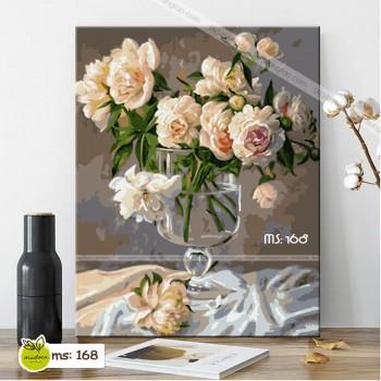Tranh hoa hồng vàng nhạt