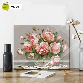 Tranh tô màu hoa hồng T04