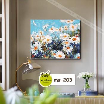 Tranh tô màu hoa cúc 203