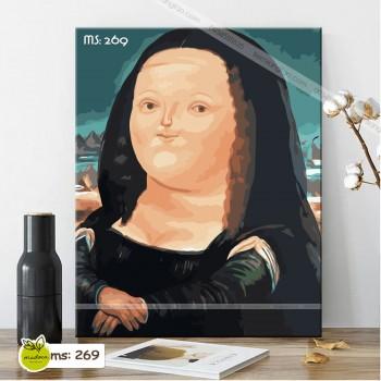 Tranh tô màu Monalisa béo 269