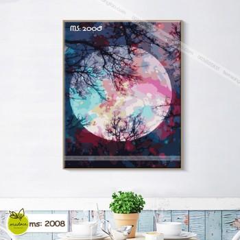 Tranh tô màu theo số ánh trăng huyền ảo T2008