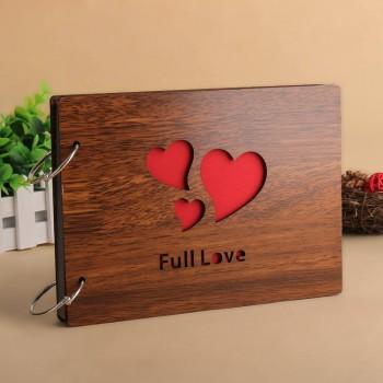 Album gỗ nhỏ 3 trái tim 06