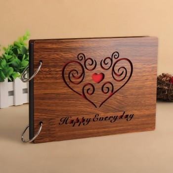 Album gỗ nhỏ trái tim mây 05