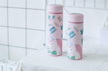 Bình giữ nhiệt Unicorn màu hồng 500ml