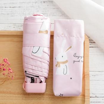 Ô mini thỏ quàng khăn màu hồng 34