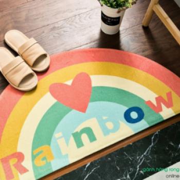 Thảm trải sàn bán tròn rainbow