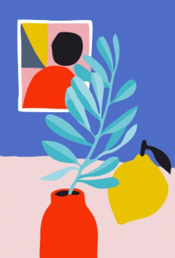Tranh tô màu Daily life hoa quả T941