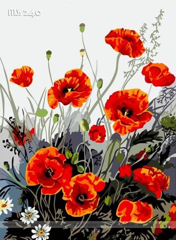 Tranh tô màu hoa diên vĩ 240