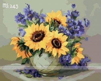 Tranh tô màu hoa hướng dương 243