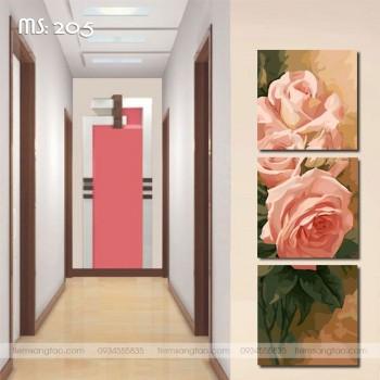 Tranh Bộ Ba Hoa hồng Phú Quý