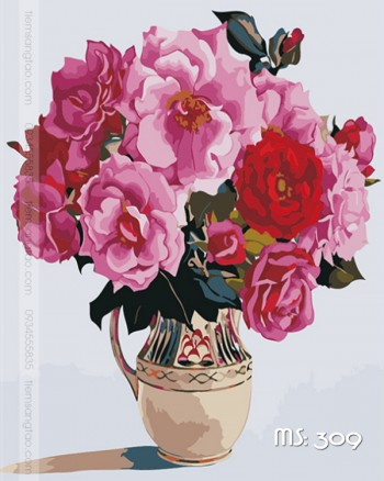 Tranh tô màu sắc hoa 309