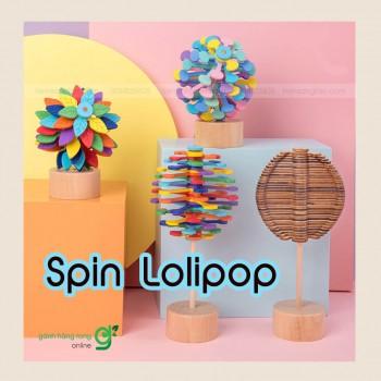 Trò chơi giải trí đánh bay căng thẳng Spin Lolipop (gỗ)